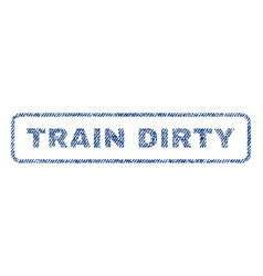 Train dirty textile stamp vector