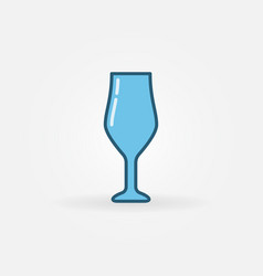 Wine glass blue icon vector