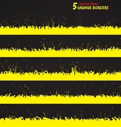 Set of grunge borders vector