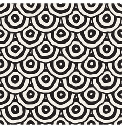 Rough line hand drawn circles seamless vector