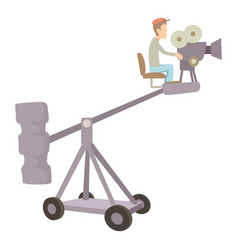 Difficult filming director icon cartoon style vector