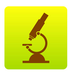 Chemistry microscope sign for laboratory vector