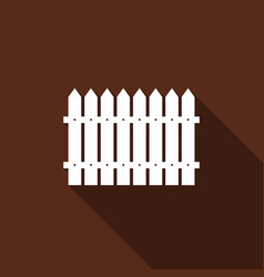 Fence flat icon with long shadow vector