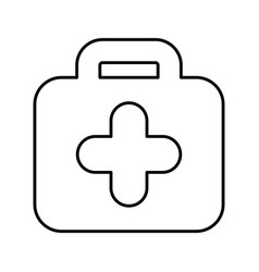 Kit medical isolated icon vector