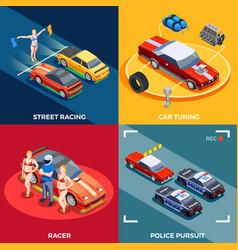 Motor racing design concept vector
