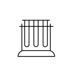 Test tubes icon vector