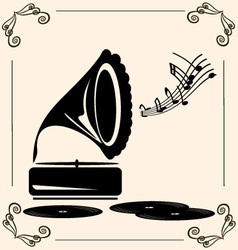 Vintage music vector