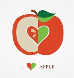 Love apple vector
