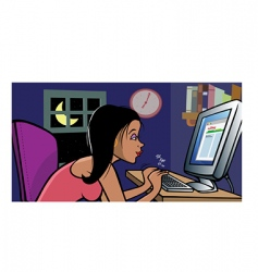girl blogging vector image