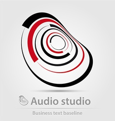 Audio studio business icon vector