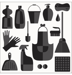 Cleaning icons set vector