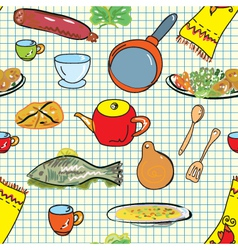 Kitchen wallpaper vector
