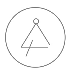 Triangle line icon vector