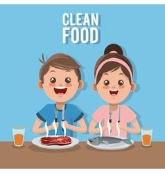 Clean food design vector