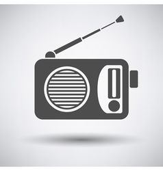 Radio icon vector