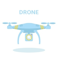 Drone icon quadrocopter vector
