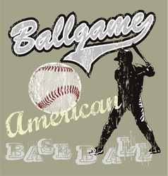 ball game baseball vector image