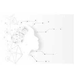 abstract artificial intelligence brain technology vector image