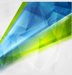 abstract technical bright polygonal background vector image vector image