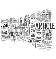 An article about articles text word cloud concept vector