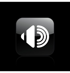 audio icon vector image vector image