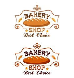 Bakery shop label vector