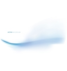 Blue abstract wave on white background vector image