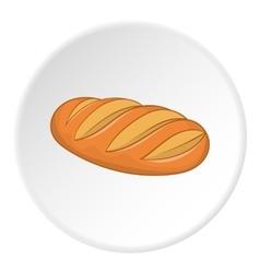 Bread icon flat style vector