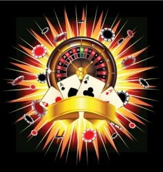 casino burst vector image vector image