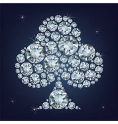Casino poker element clubs made a lot of diamonds vector image vector image