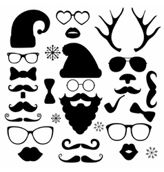 Christmas fashion silhouette set hipster style vector image vector image