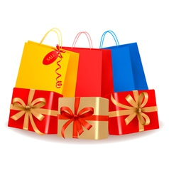 collection of holiday shopping bags and sale vector image vector image
