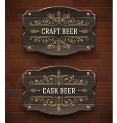 Crafr beer vintage signboard vector