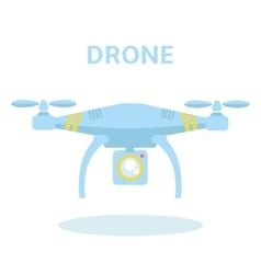 Drone icon Quadrocopter vector image
