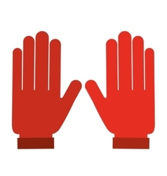 Electrician gloves isolated icon design vector