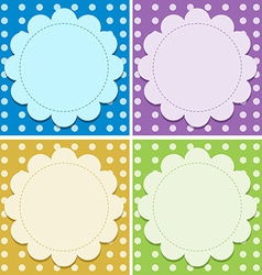 Empty background templates vector