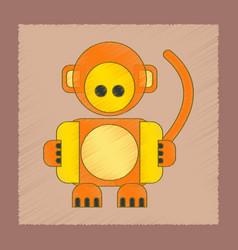 Flat shading style icon kids monkey vector