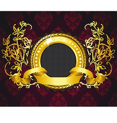 golden ring composition vector image
