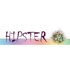 Hipster frame design vector