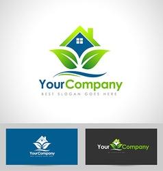 House logo leaf vector