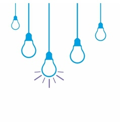 Idea concept with light bulbs vector image vector image
