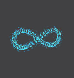 Infinity symbol wireframe mesh vector