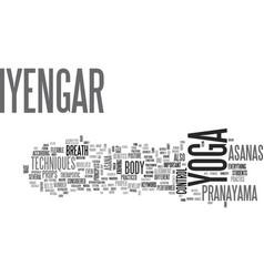 Iyengar yoga text background word cloud concept vector