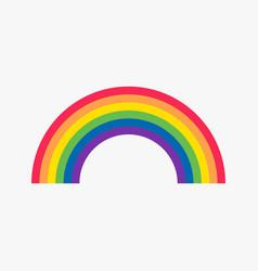 rainbow flat icon vector image vector image