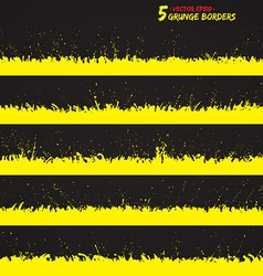 Set of grunge borders vector image