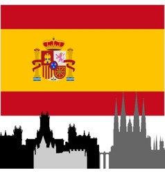 Spanish architecture vector