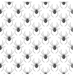 spiders seamless pattern for textile design vector image