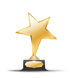 star trophy vector image vector image