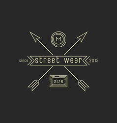 Tag clothing sizes or shoes hipster wear emblem vector