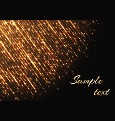 template with sparkles and golden rays vector image vector image